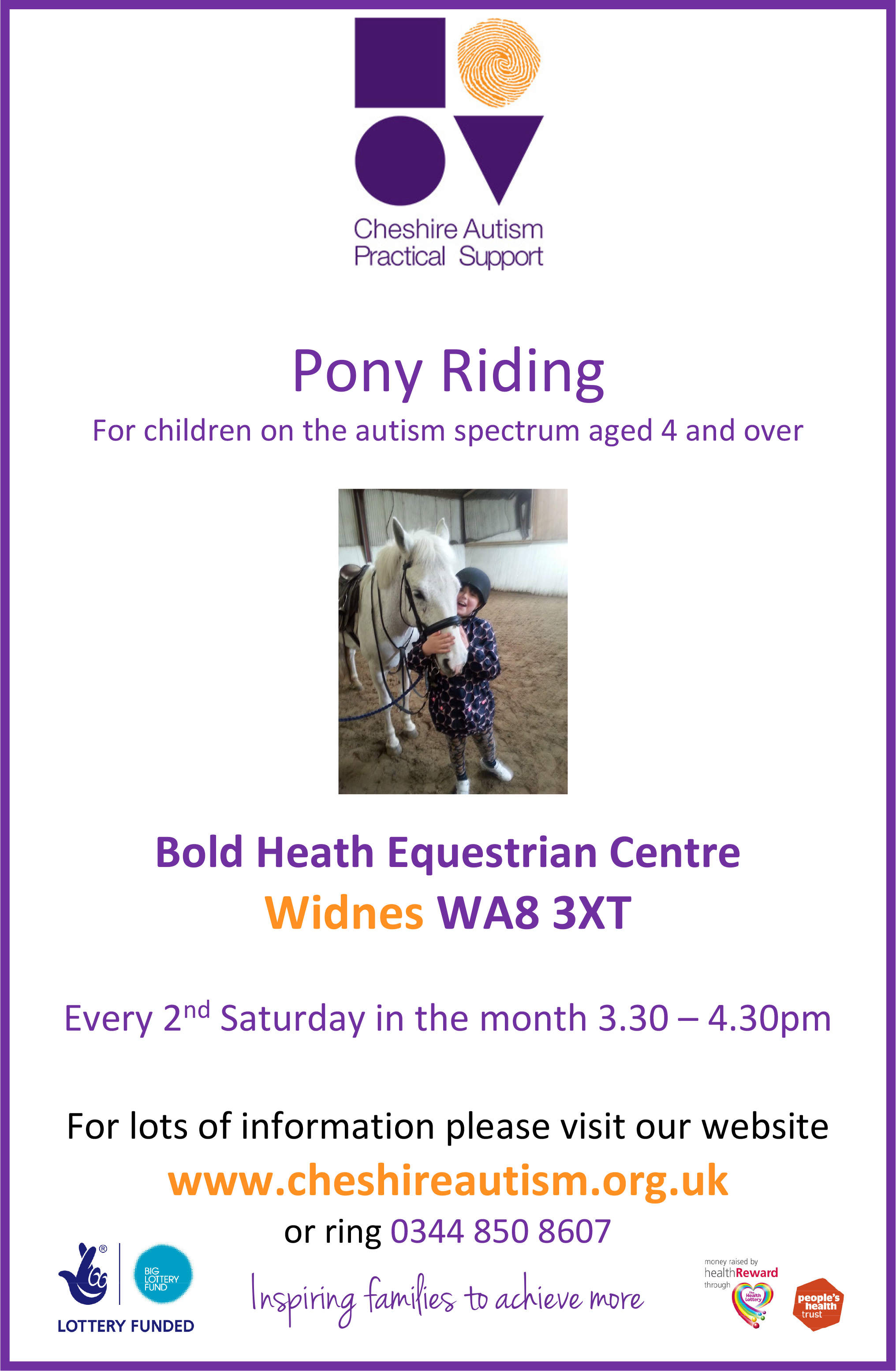 Pony Riding Widnes A4